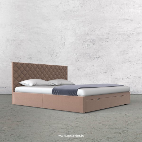 Aquila Queen Storage Bed in Velvet Fabric - QBD001 VL16