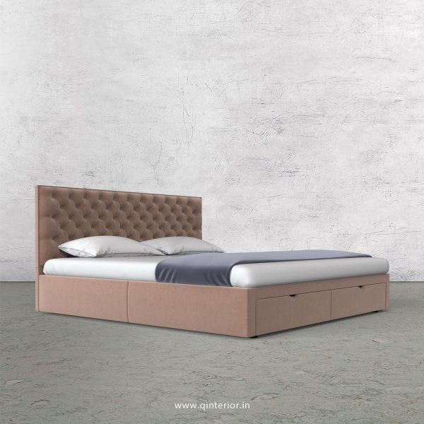 Orion King Size Storage Bed in Velvet Fabric - KBD001 VL16