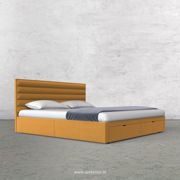 Crux King Size Storage Bed in Velvet Fabric - KBD001 VL18