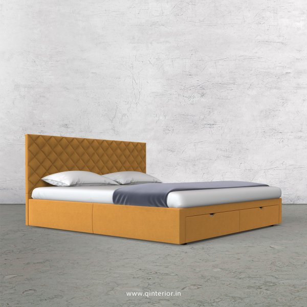 Aquila Queen Storage Bed in Velvet Fabric - QBD001 VL18