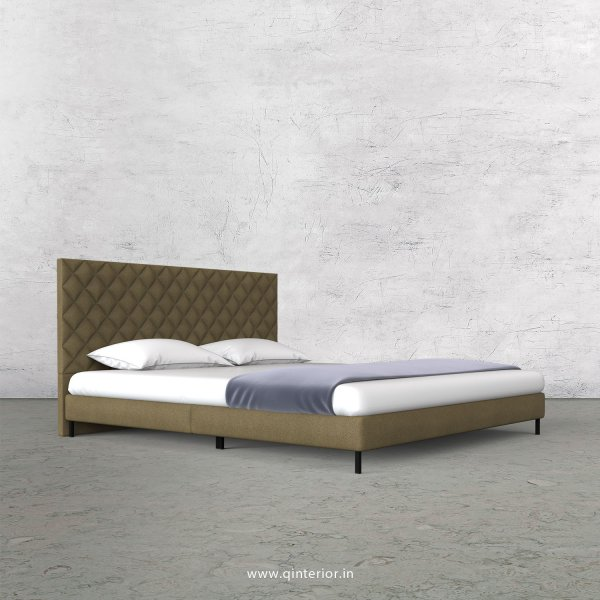 Aquila Queen Size Bed with Fab Leather Fabric - QBD003 FL01