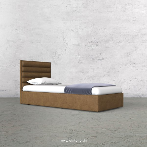 Crux Single Bed in Fab Leather Fabric - SBD009 FL02