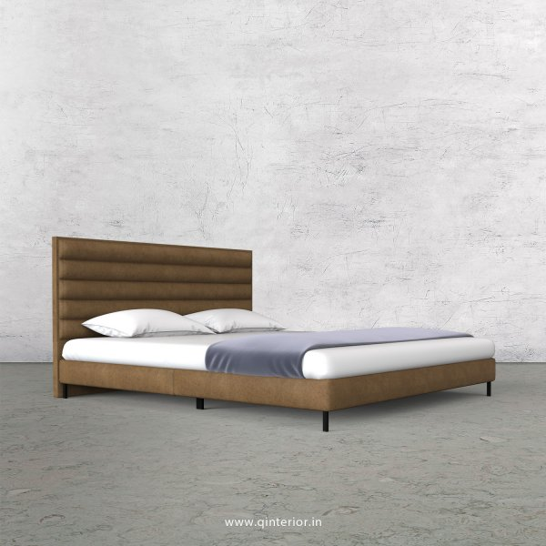 Crux King Size Bed in Fab Leather Fabric - KBD003 FL02