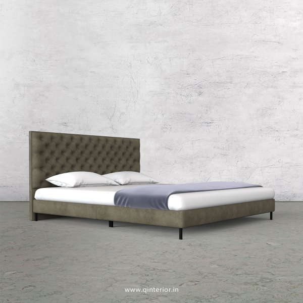 Orion Queen Size Bed with Fab Leather Fabric - QBD003 FL03
