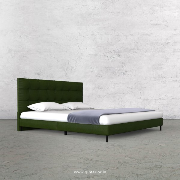 Lyra Queen Size Bed with Fab Leather Fabric - QBD003 FL04