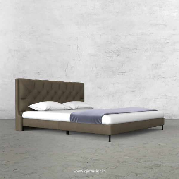 Scorpius Queen Size Bed with Fab Leather Fabric - QBD003 FL06