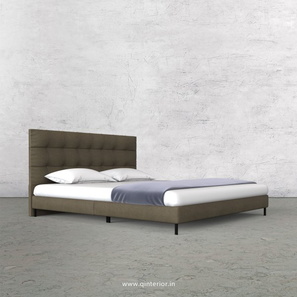 Lyra King Size Bed in Fab Leather Fabric - KBD003 FL06