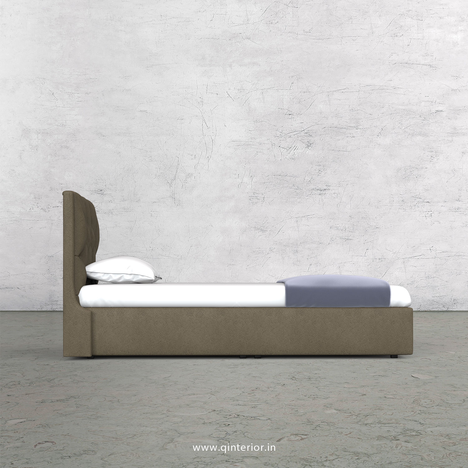Scorpius Single Bed in Fab Leather Fabric - SBD009 FL06