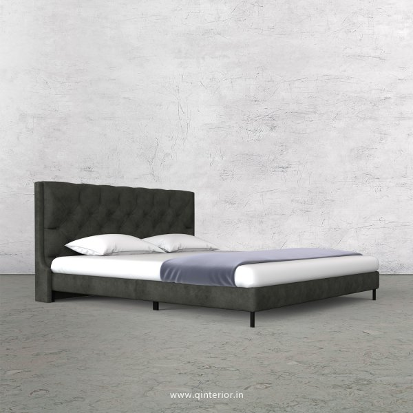 Scorpius Queen Size Bed with Fab Leather Fabric - QBD003 FL07