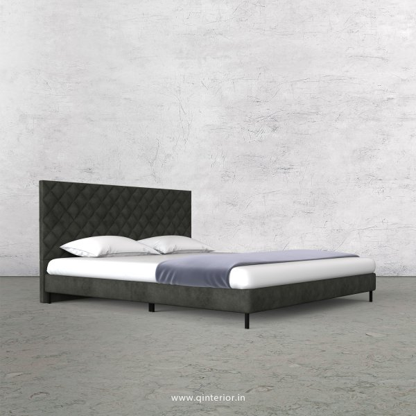 Aquila King Size Bed in Fab Leather Fabric - KBD003 FL07