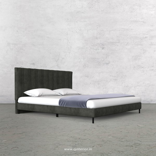 Leo King Size Bed in Fab Leather Fabric - KBD003 FL07