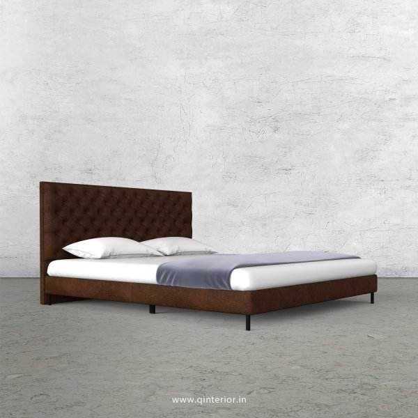 Orion Queen Size Bed with Fab Leather Fabric - QBD003 FL09