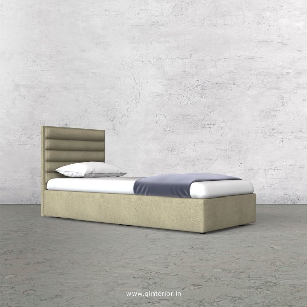 Crux Single Bed in Fab Leather Fabric - SBD009 FL10