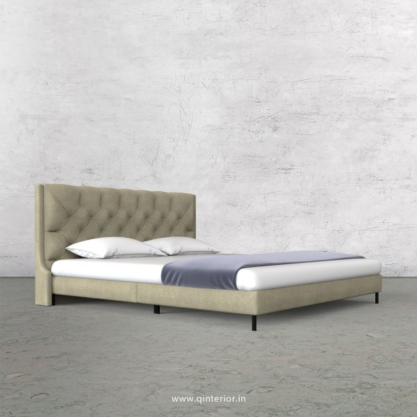 Scorpius King Size Bed in Fab Leather Fabric - KBD003 FL10