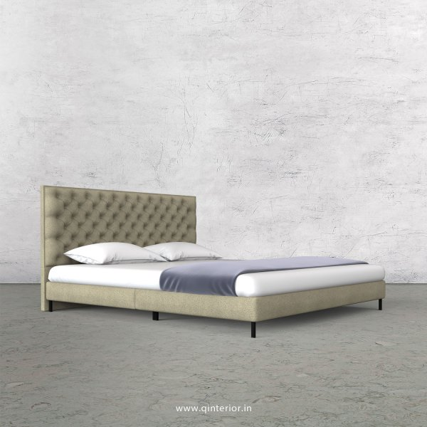 Orion King Size Bed in Fab Leather Fabric - KBD003 FL10