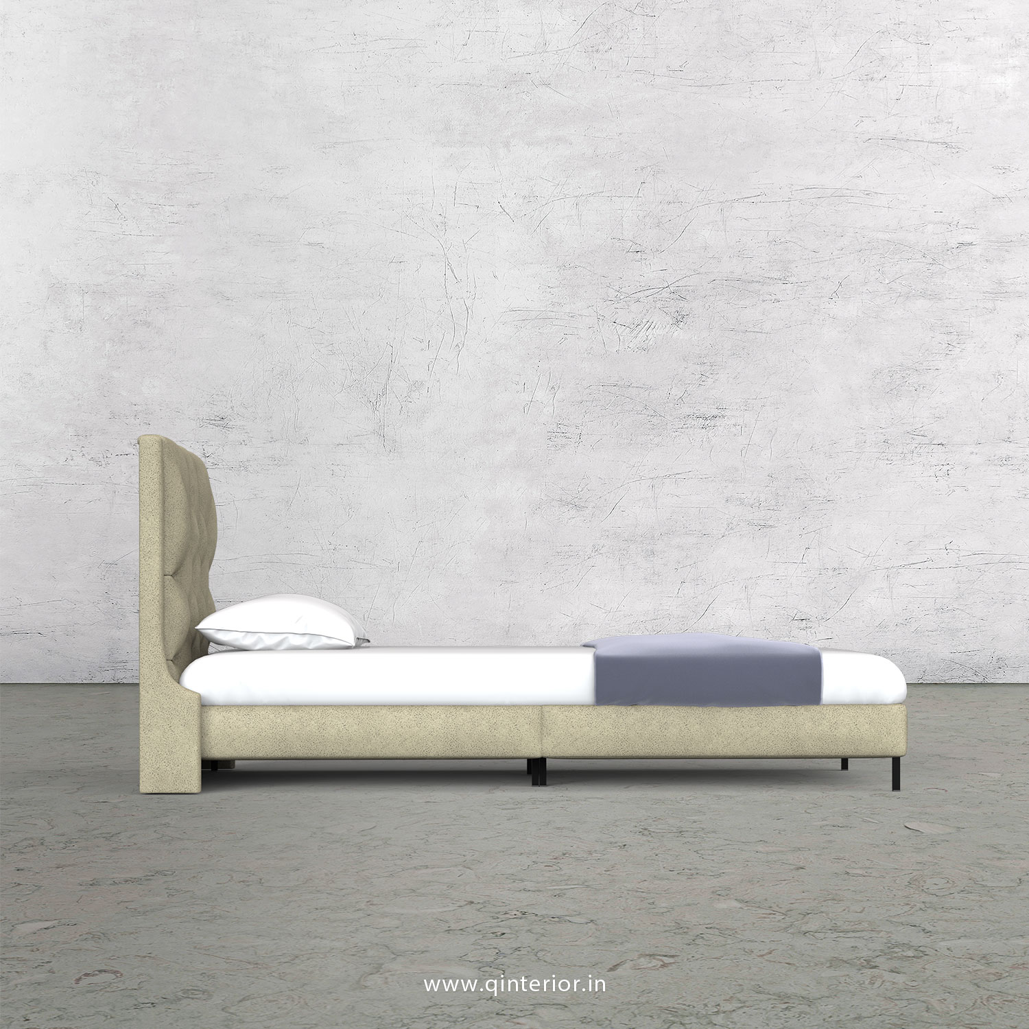 Scorpius Single Bed in Fab Leather – SBD003 FL10