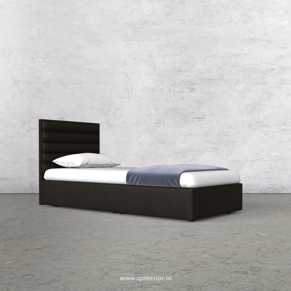 Crux Single Bed in Fab Leather Fabric - SBD009 FL11