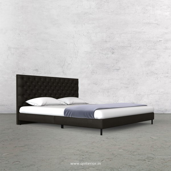 Orion Queen Size Bed with Fab Leather Fabric - QBD003 FL11