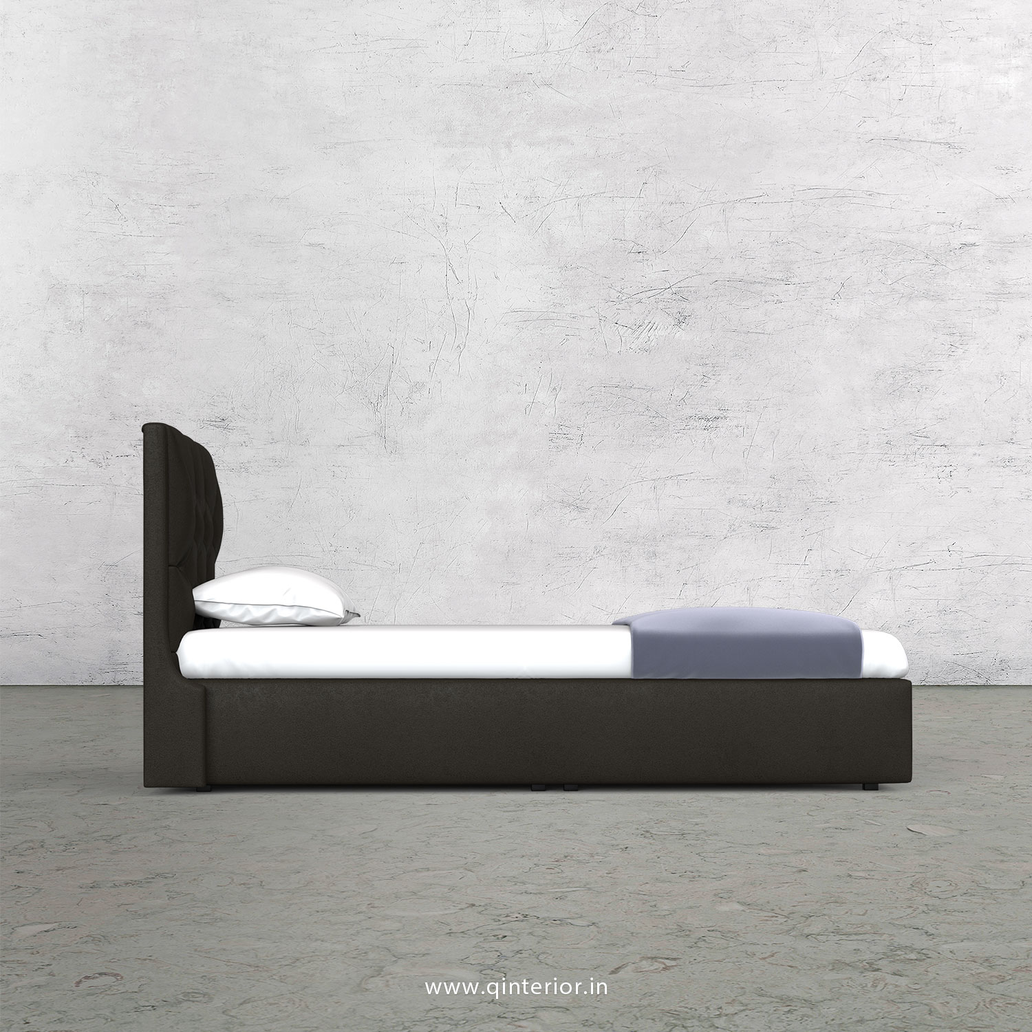 Scorpius Single Bed in Fab Leather Fabric - SBD009 FL11