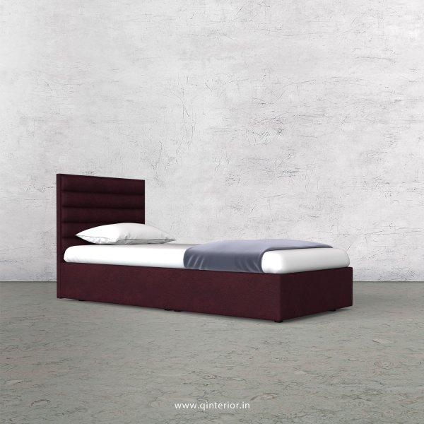Crux Single Bed in Fab Leather Fabric - SBD009 FL12