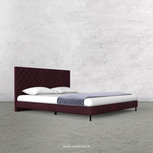 Aquila King Size Bed in Fab Leather Fabric - KBD003 FL12