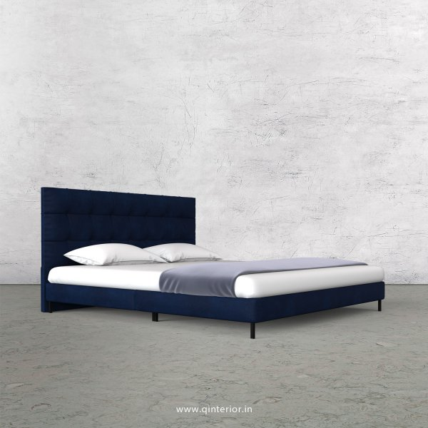 Lyra Queen Size Bed with Fab Leather Fabric - QBD003 FL13