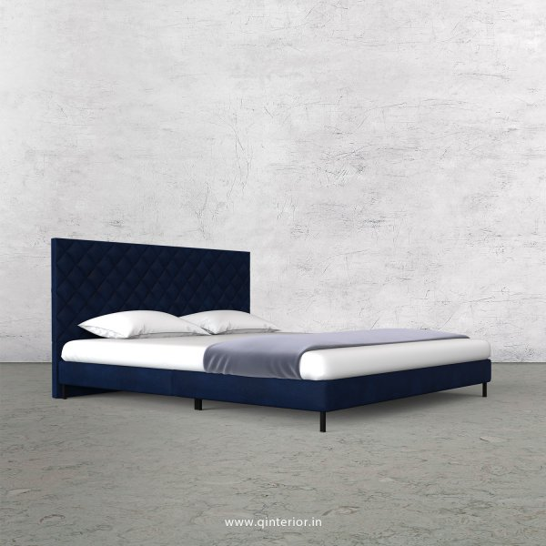 Aquila King Size Bed in Fab Leather Fabric - KBD003 FL13