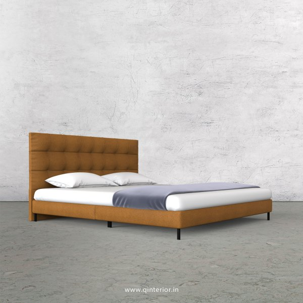 Lyra Queen Size Bed with Fab Leather Fabric - QBD003 FL14
