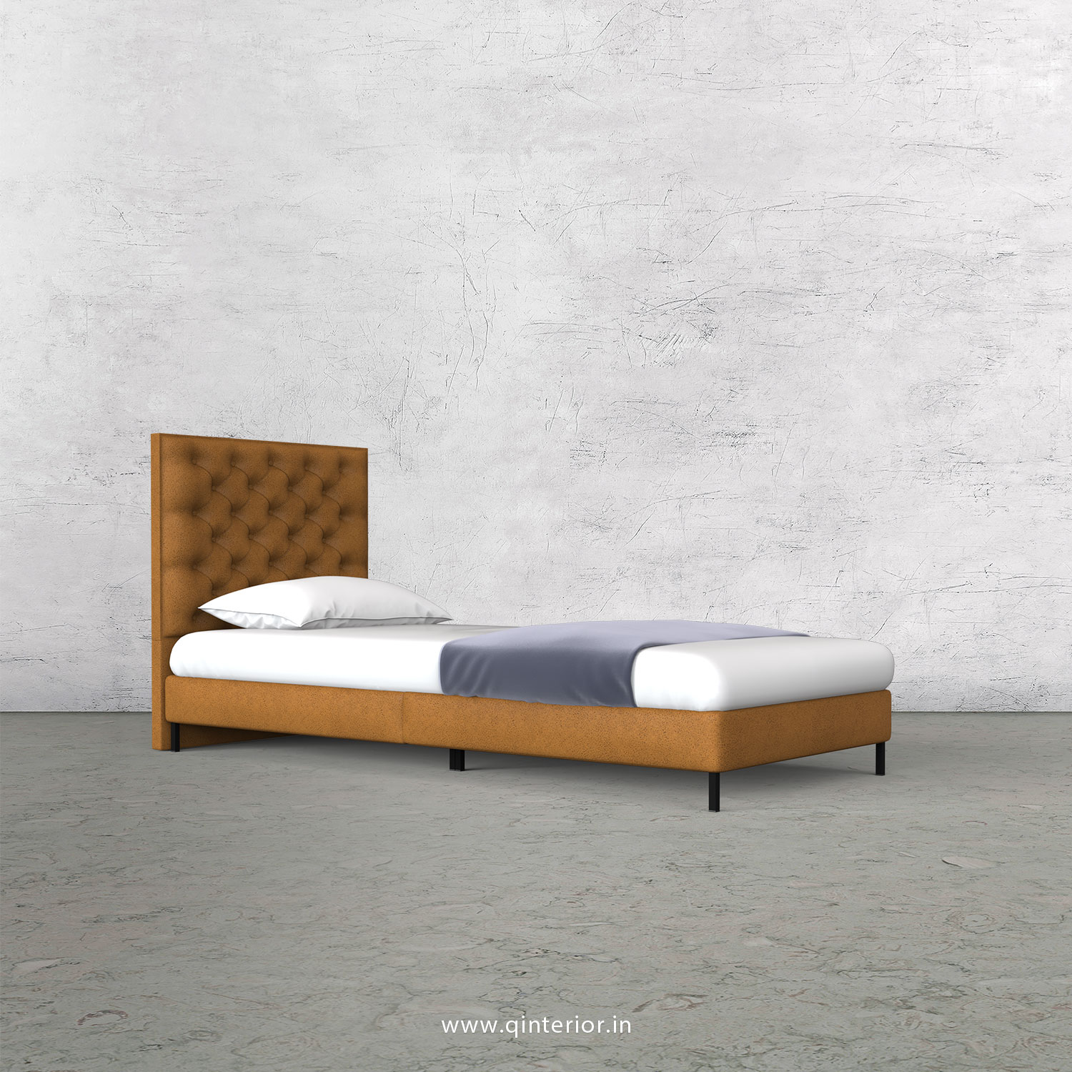 Orion Single Bed in Fab Leather – SBD003 FL14