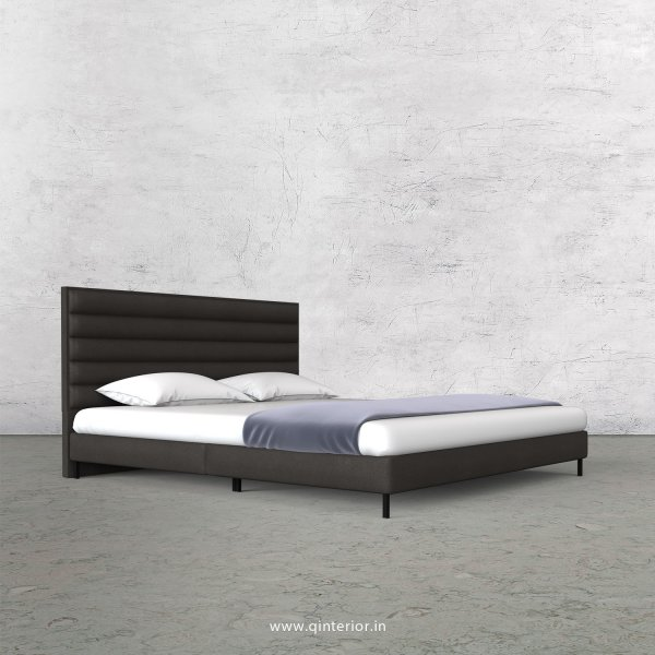 Crux King Size Bed in Fab Leather Fabric - KBD003 FL15