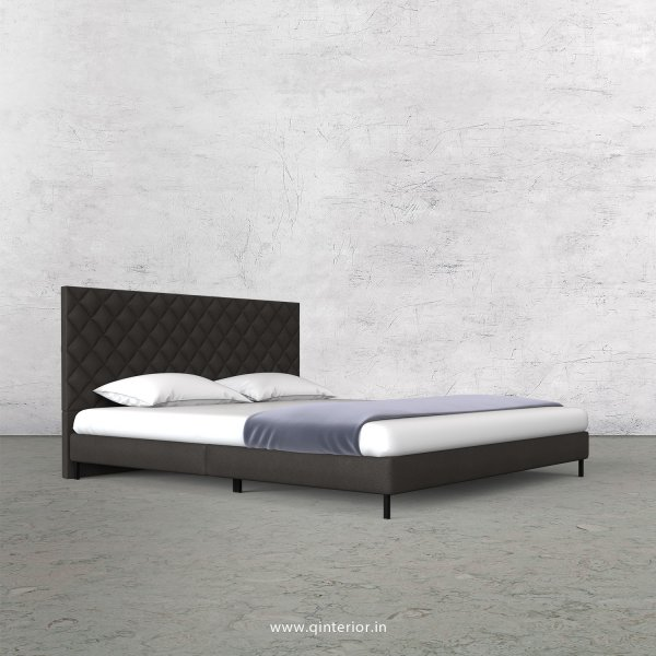 Aquila King Size Bed in Fab Leather Fabric - KBD003 FL15