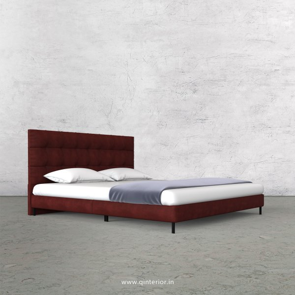 Lyra King Size Bed in Fab Leather Fabric - KBD003 FL17