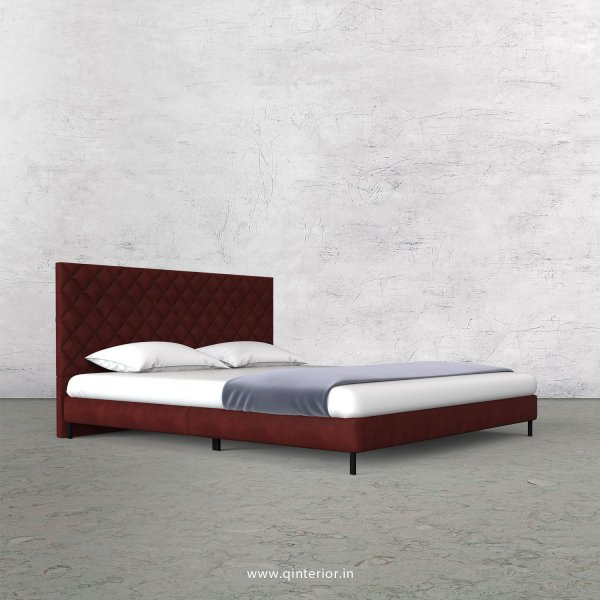 Aquila King Size Bed in Fab Leather Fabric - KBD003 FL17