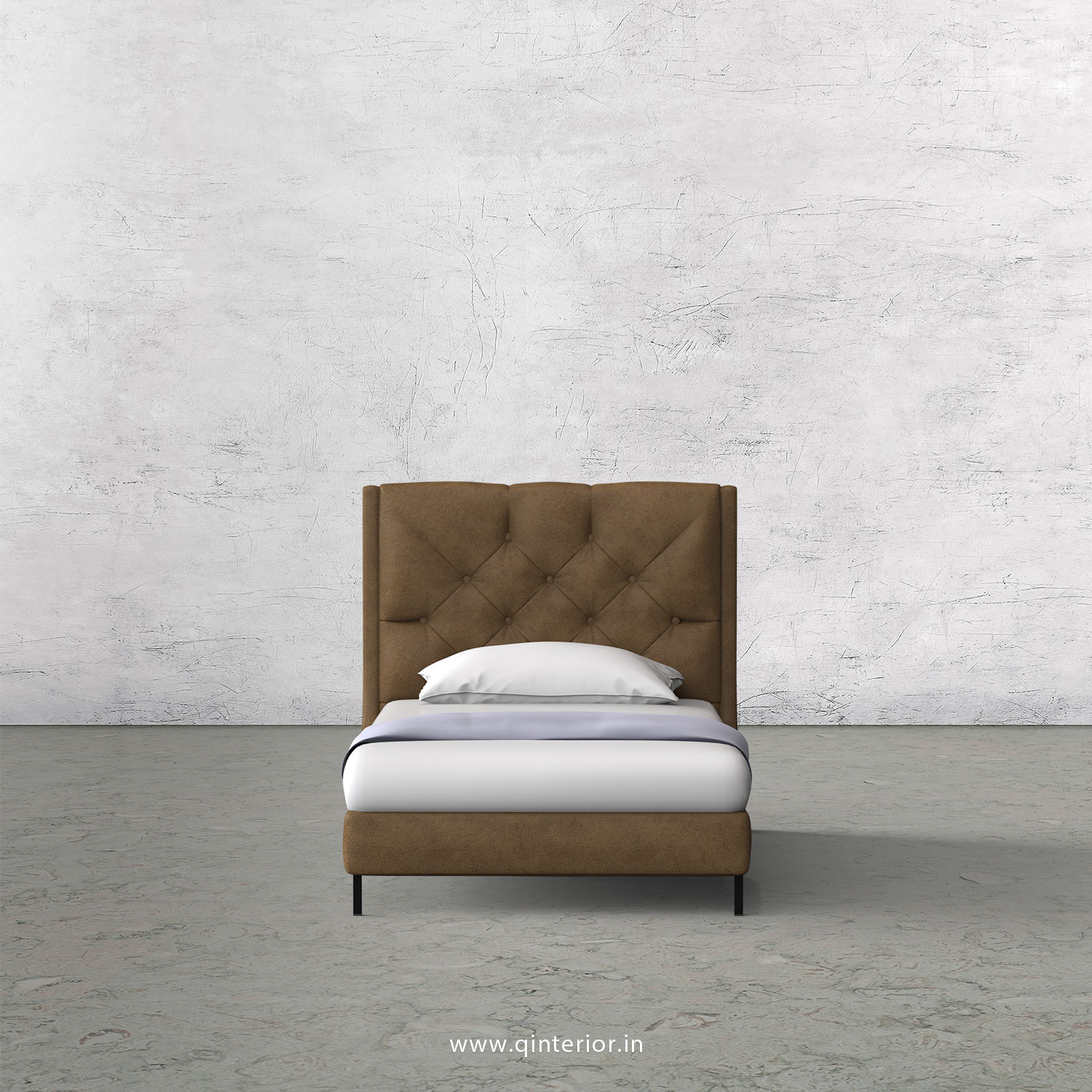 Scorpius Single Bed in Fab Leather – SBD003 FL02