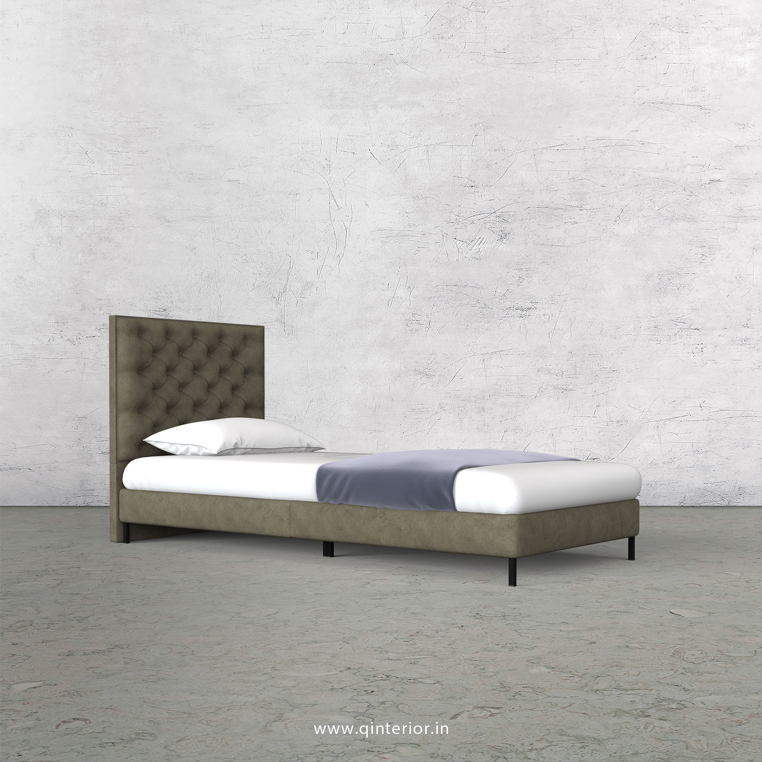 Orion Single Bed in Fab Leather – SBD003 FL03
