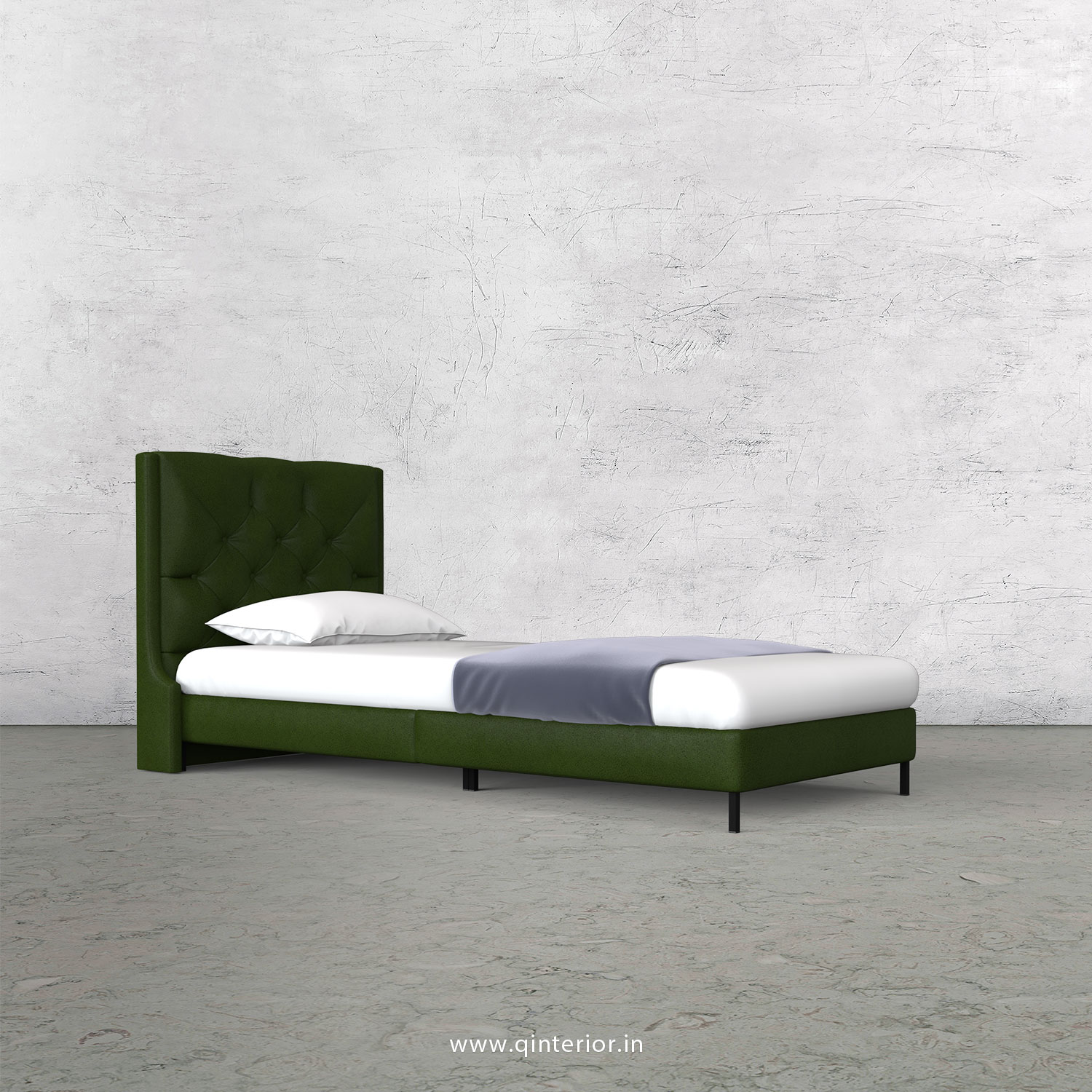 Scorpius Single Bed in Fab Leather – SBD003 FL04