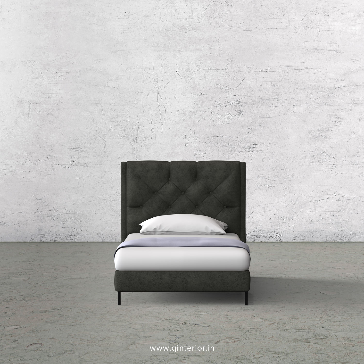 Scorpius Single Bed in Fab Leather – SBD003 FL07