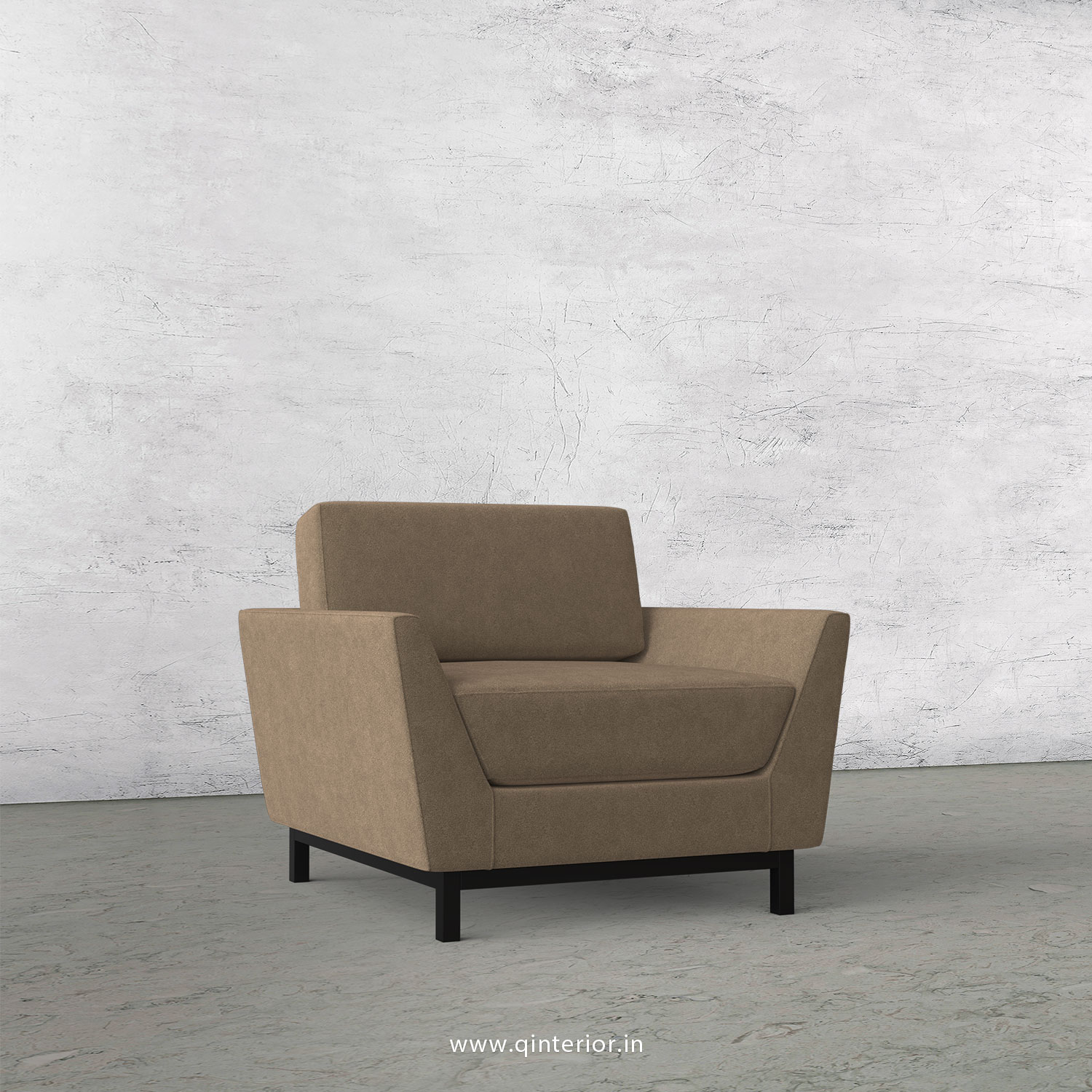 Blitz 1 Seater Sofa in Velvet Fabric - SFA002 VL03