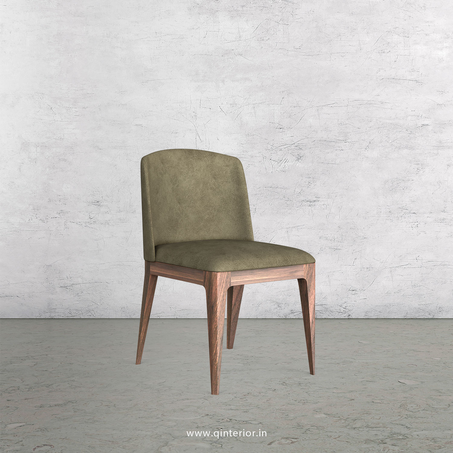 Cario Dining Chair in Fab Leather Fabric - DCH001 FL03