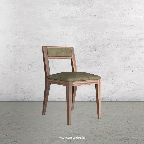 Lath Dining Chair in Fab Leather Fabric - DCH003 FL03