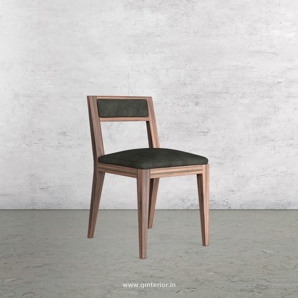 Lath Dining Chair in Fab Leather Fabric - DCH003 FL15