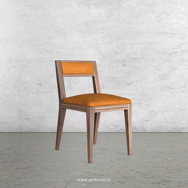 Lath Dining Chair in Fab Leather Fabric - DCH003 FL14
