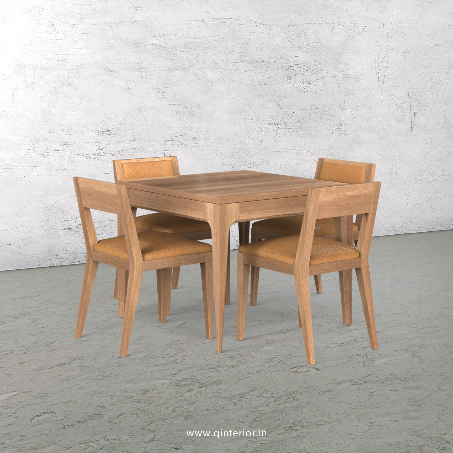 Vienna 4 Seater Dining Table in Oak Finish - DTB001 C2
