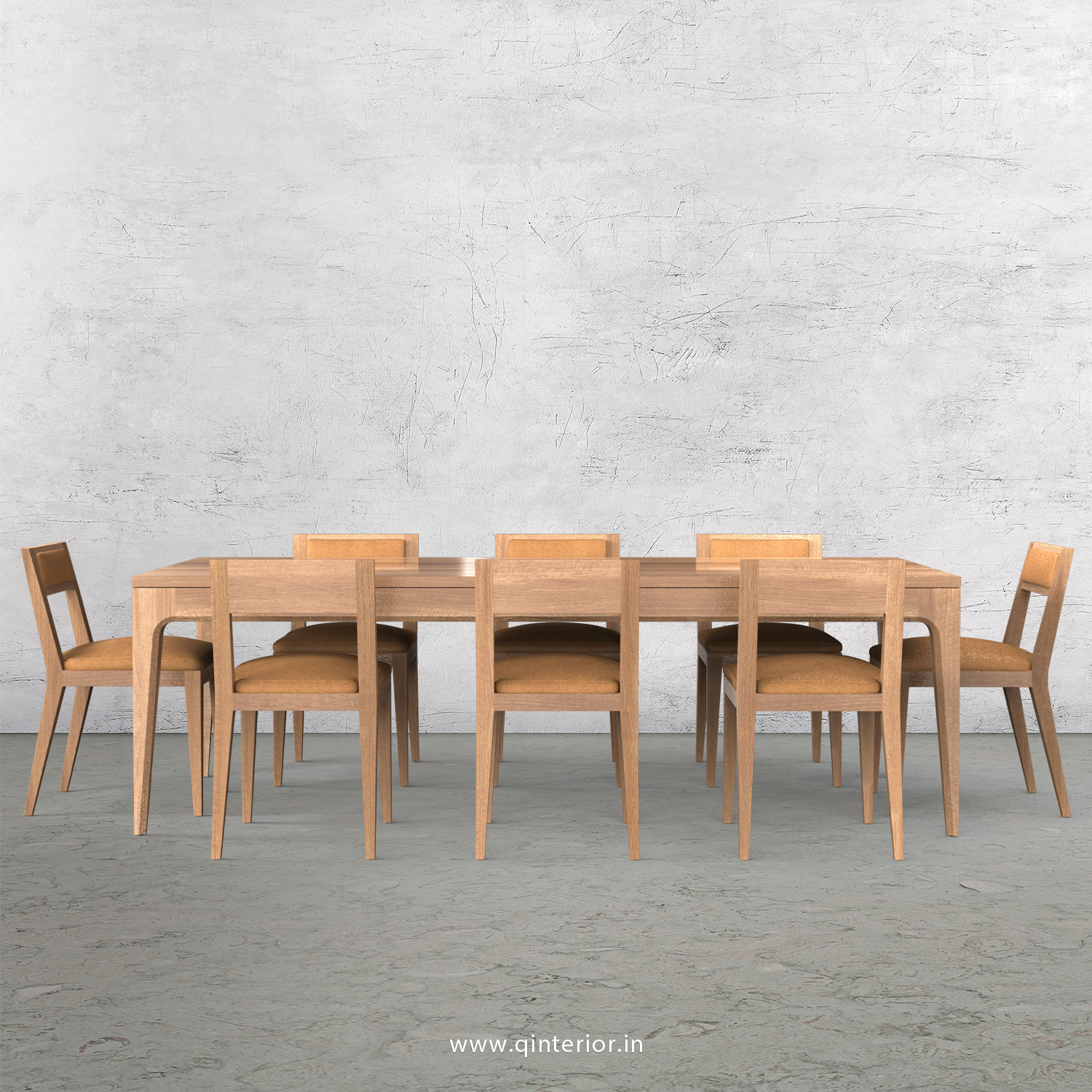 Vienna 8 Seater Dining Table in Oak Finish - DTB001 C2