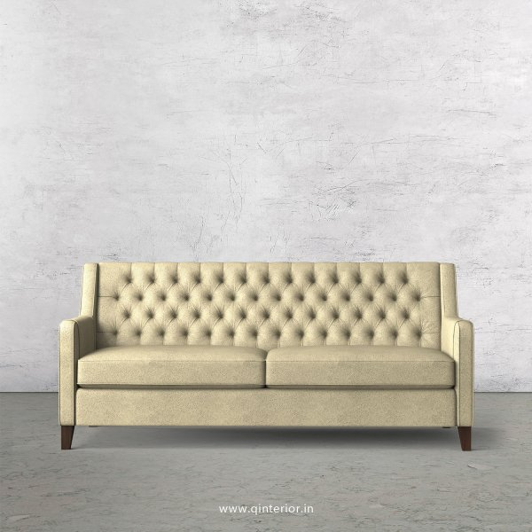 Eligence 3 Seater Sofa in Fab Leather Fabric - SFA011 FL10