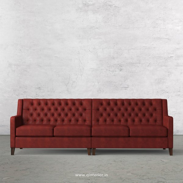Eligence 4 Seater Sofa in Fab Leather Fabric - SFA011 FL17