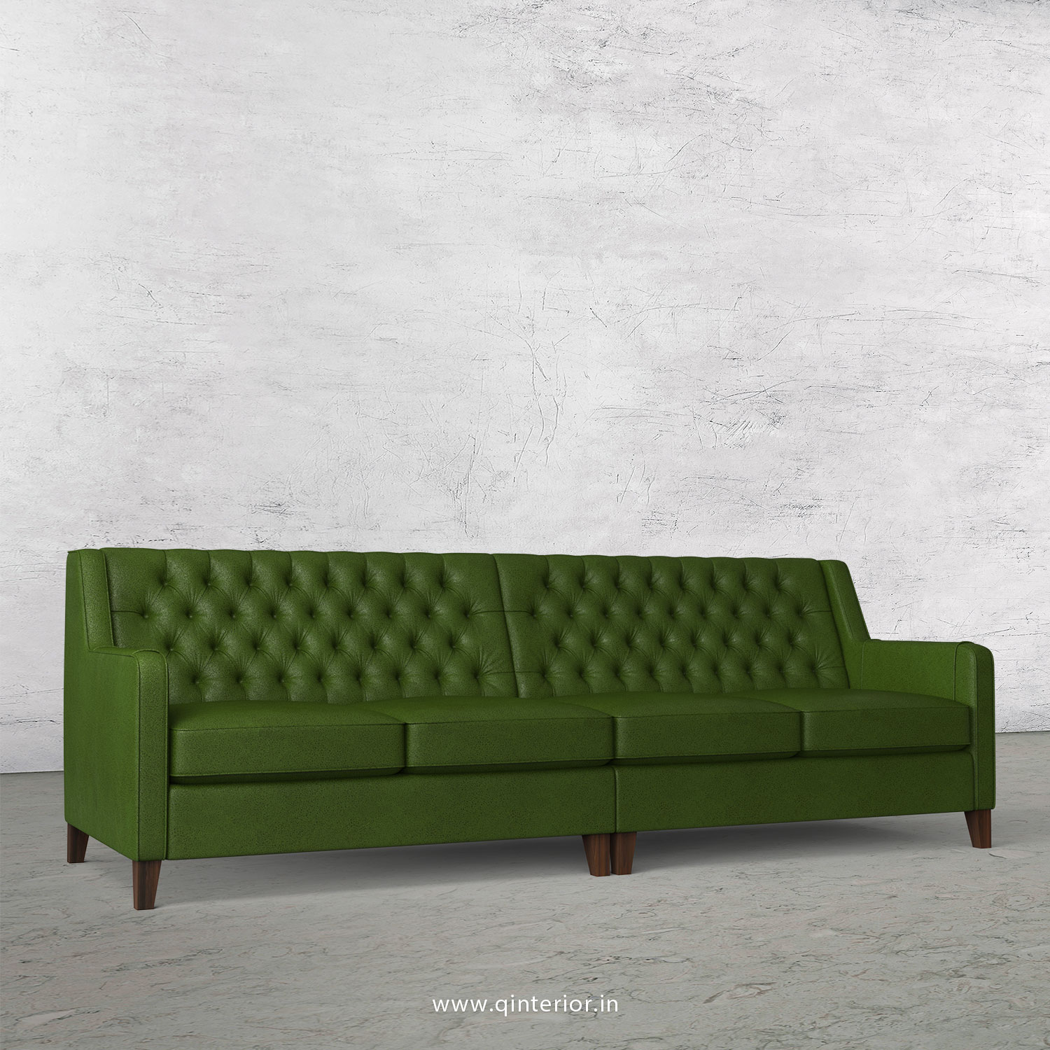 Eligence 4 Seater Sofa in Fab Leather Fabric - SFA011 FL04