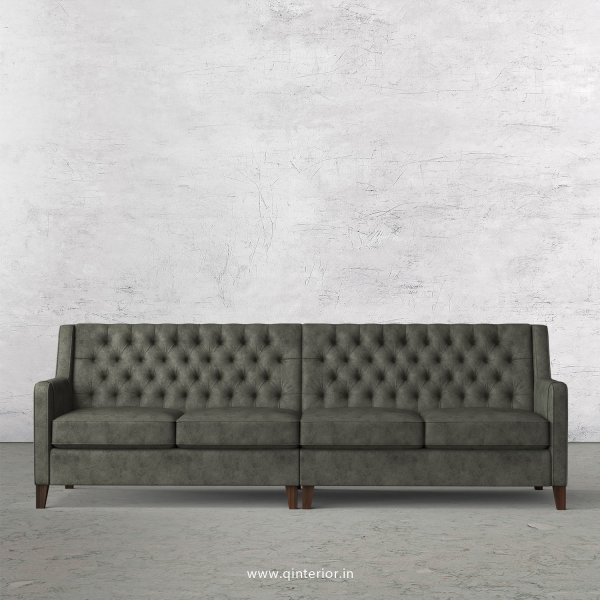 Eligence 4 Seater Sofa in Fab Leather Fabric - SFA011 FL07