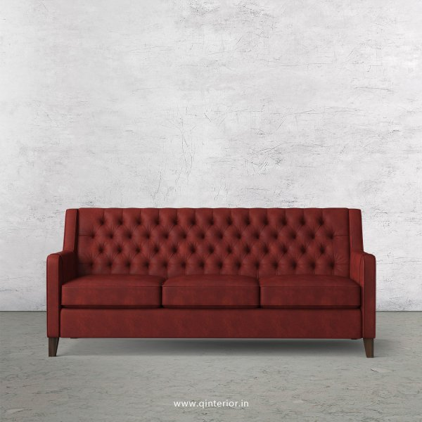 Eligence 3 Seater Sofa in Fab Leather Fabric - SFA011 FL08