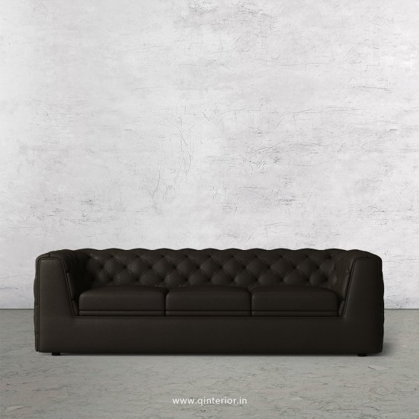 ERGO 3 Seater Sofa in Fab Leather Fabric - SFA009 FL11